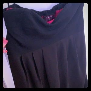Club Monaco strapless black dress size zip.